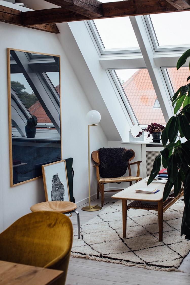 A Charming Copenhagen Loft Alongside Mid-Century Classics