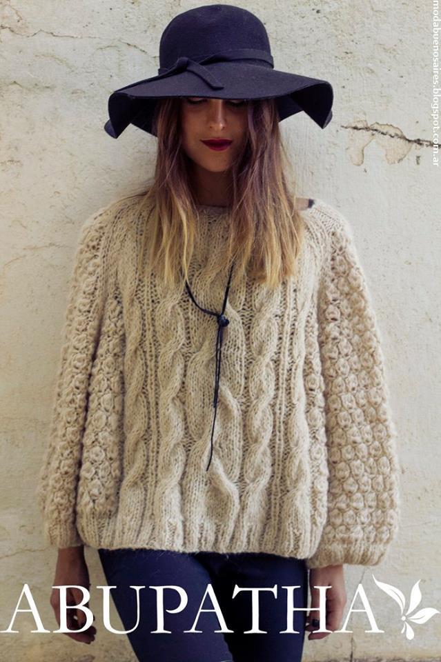 Sweaters invierno 2016 tejidos de moda 2016 Abupatha prendas tejidas.