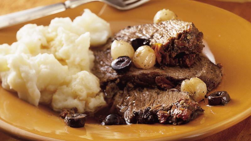 Slow-Cooker Mediterranean Pot Roast Recipe | LEBANESE RECIPES