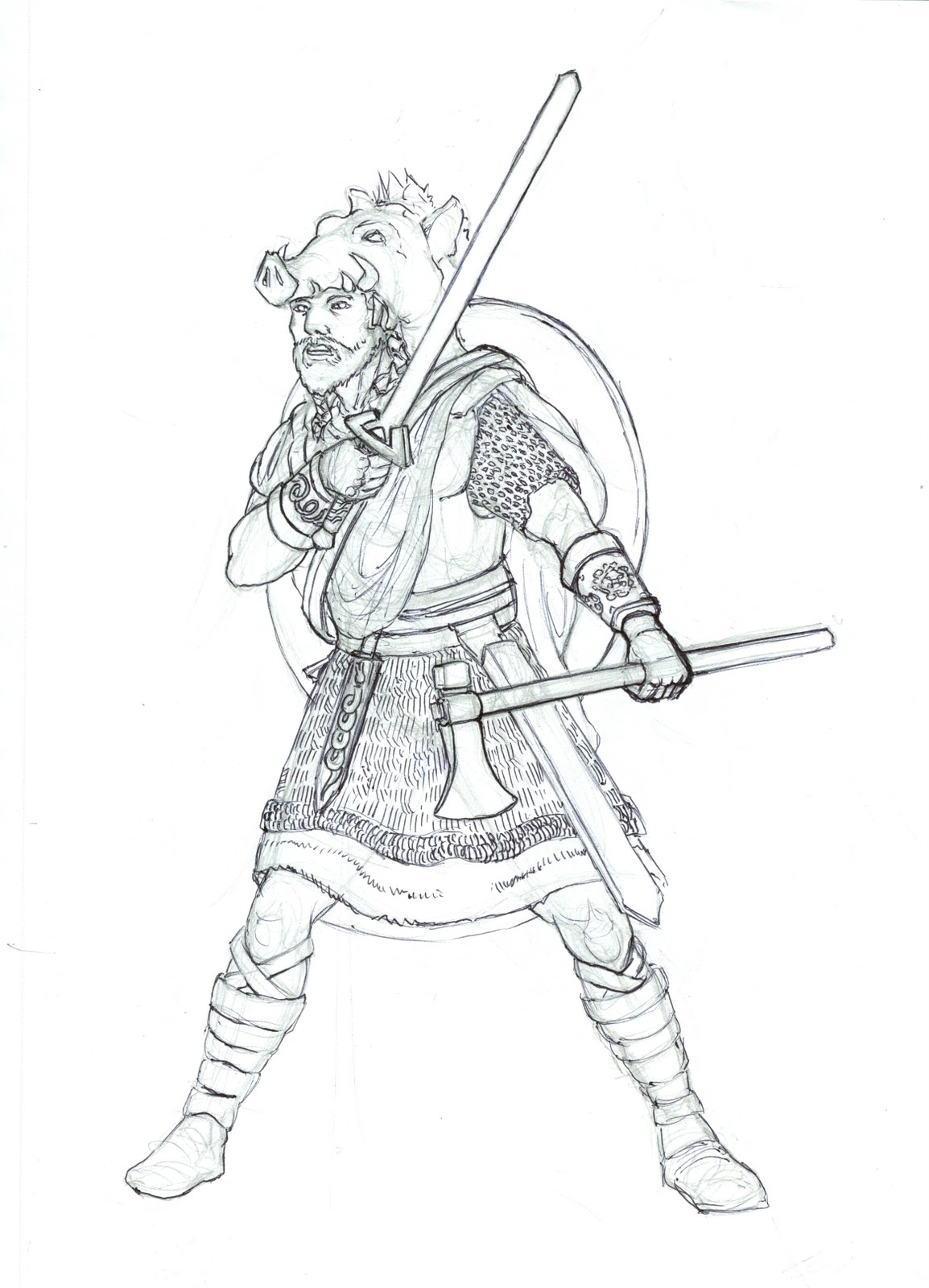 Beowulf Drawings For Coloring Sketch Coloring Page