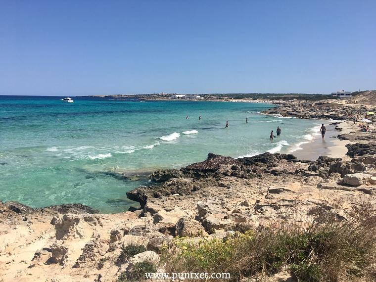 PUNTXET Viaje de 3 días a Formentera, Cala Sa Roqueta