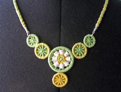 Dorset buttons as necklace focal