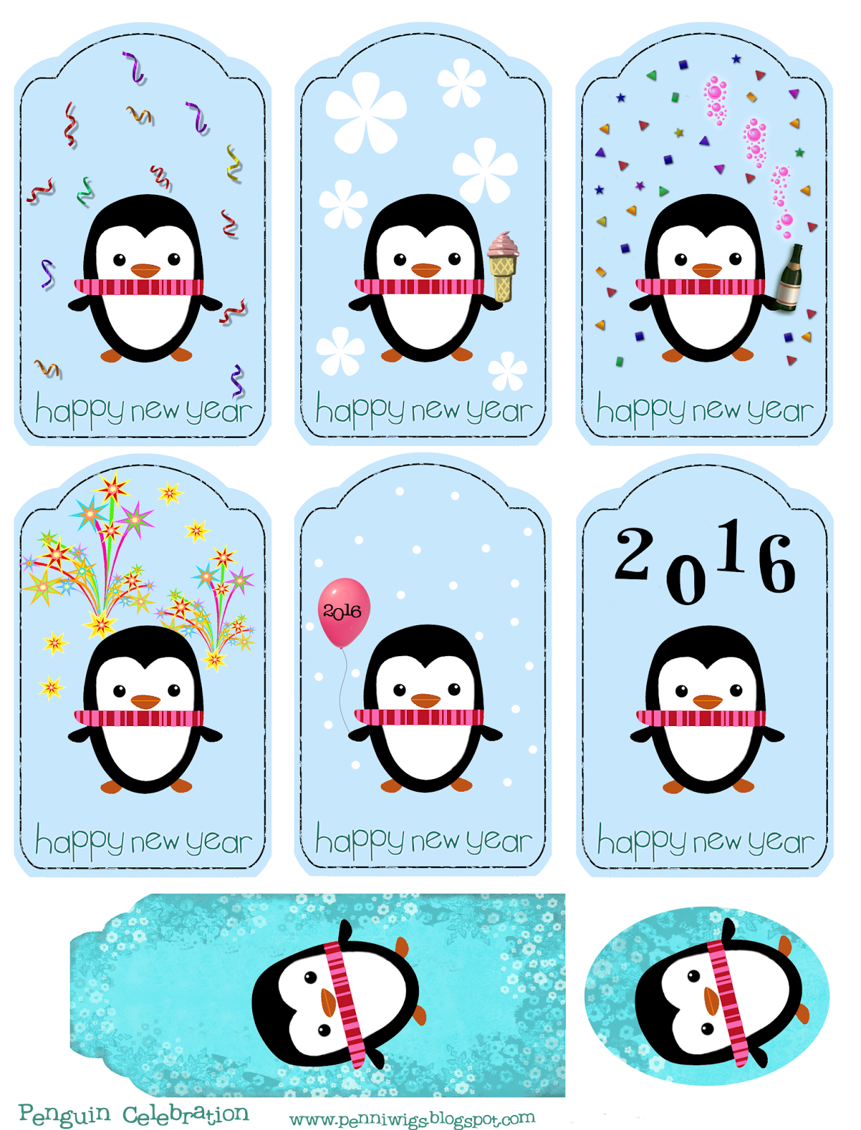 Penniwigs Free Graphics Printables Paper Fun Lore And More A Sheet Of New Year S Tags