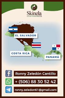 Skinela en el Salvador, Costa Rica y Panamá