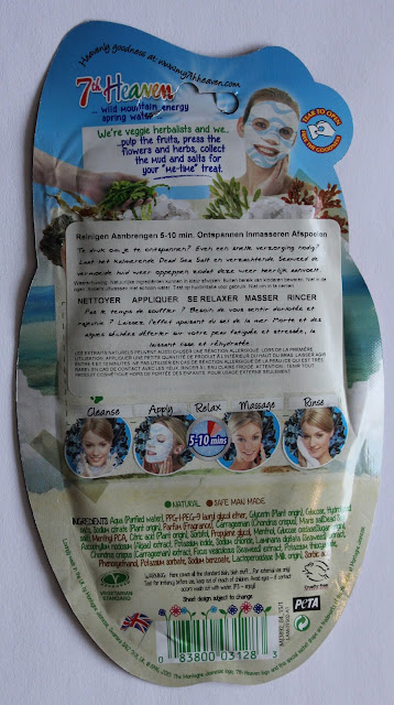 IMG 1309 - Vrijdag Maskerdag: 7th Heaven Dead Sea Sheet Masque