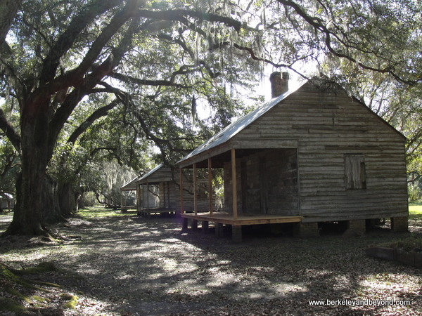 slave cabins at Evergreen Plantation in Edgard, Louisiana