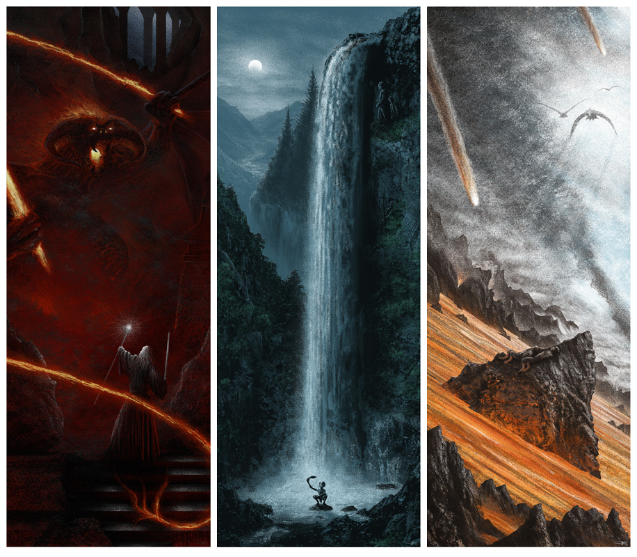 Microcosmicmedia New Prints For Mondo Lord Of The Rings