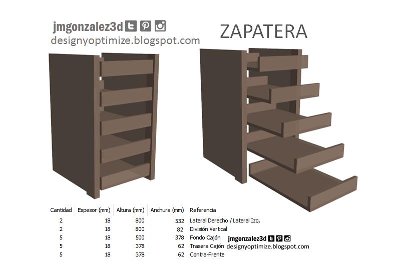 Dise o de muebles madera crear armario closet placard for Disenos de zapateras de madera