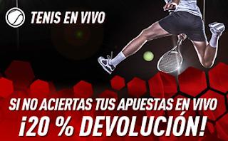sportium Promo Tenis En Vivo: 20% devolución en tus pérdidas 18-24 marzo