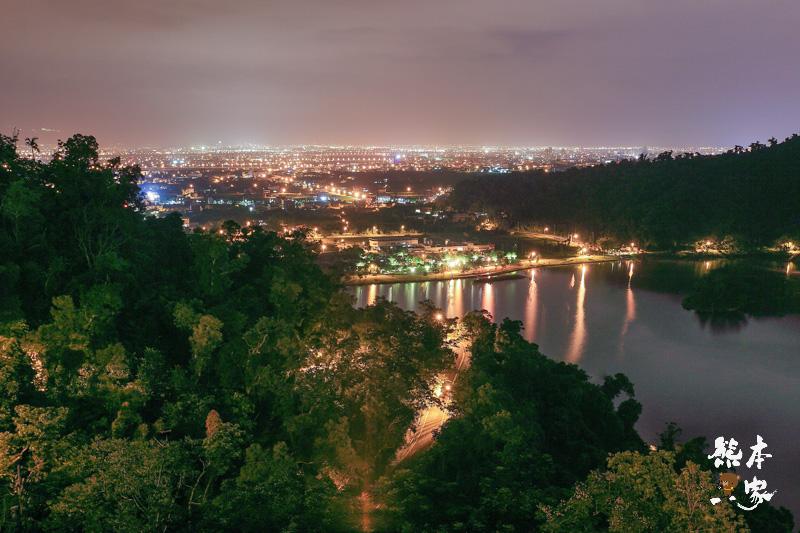 道教總廟三清宮|鳥瞰梅花湖蘭陽平原夜晚景致|宜蘭夜景|宜蘭冬山浪漫夜景