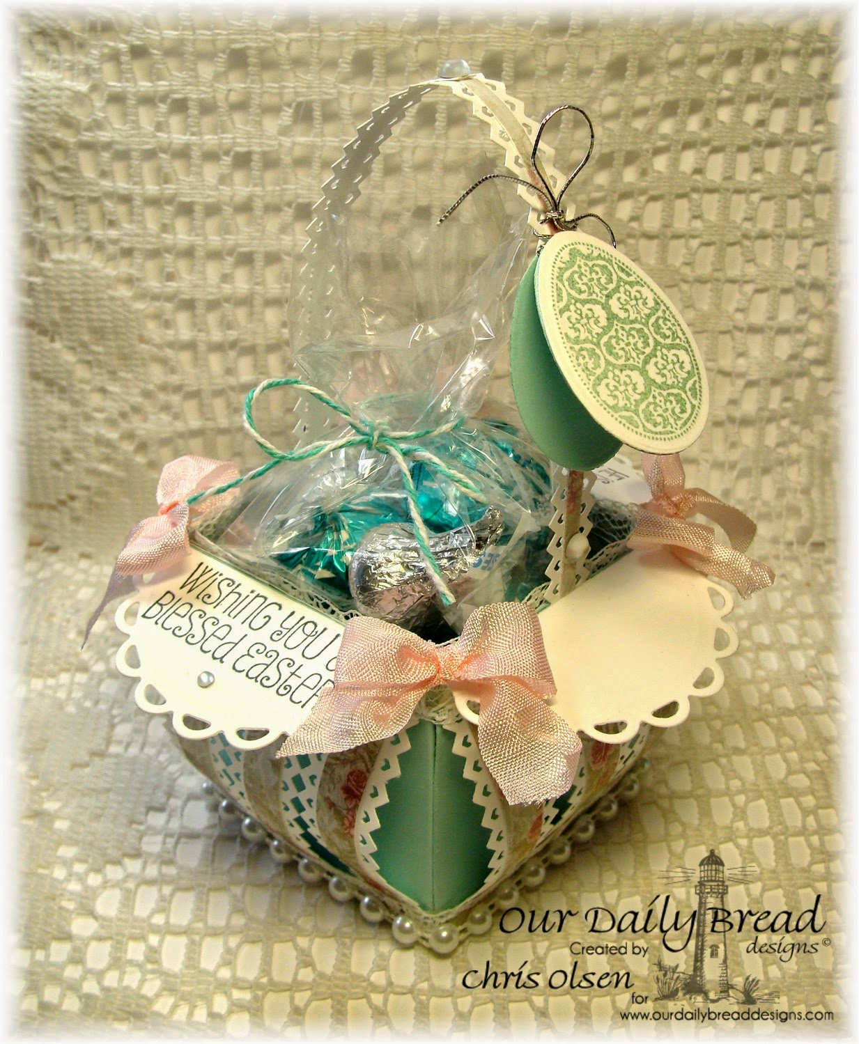 Our Daily Bread Designs, Shabby Rose Collection Paper, Blessed Easter, Egg dies, designed by Chris Olsen