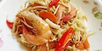Sayur Taugeh Goreng Campur Kobis, Carrot Dan Udang