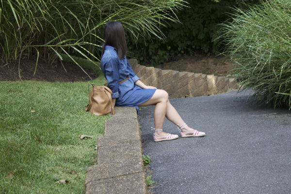 Naturally Me, Denim Dress, Target Denim Dress, Espadrilles, The Perfect Summer Outfit, Bucket Bag