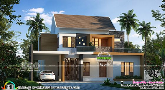 4 bedroom 3100 square feet modern home design