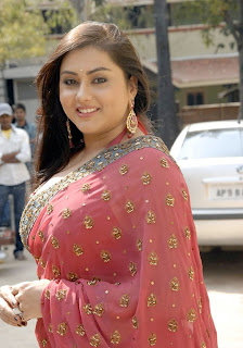 Namitha Glamorous Pictures In Red Saree