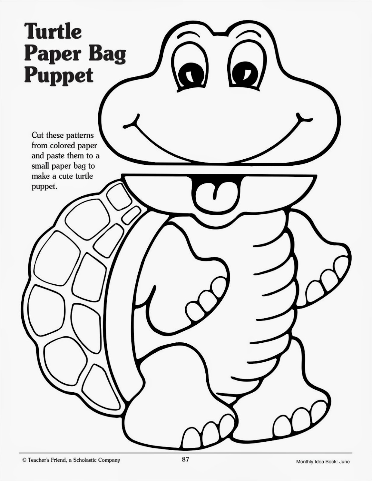 Page 2 successsprinters franklin the turtle for Paper plate puppets templates