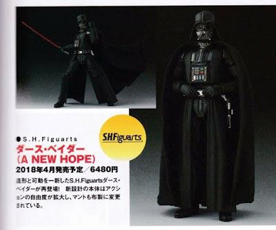 """Primeras imágenes de los nuevos S.H.Figuarts de """"Star Wars"""", Luke Skywalker y Darth Vader - Tamashii Nations"""