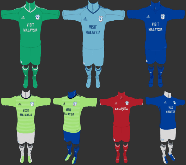 Cardiff City 2017 18 Full Kits Pes 2013 Patch Pes New Patch