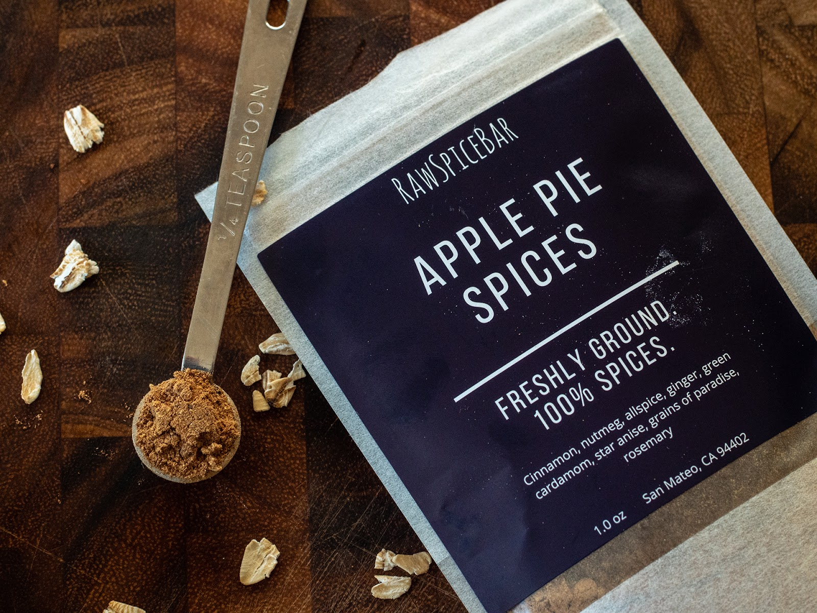 Local Food Rocks: RawSpiceBar Apple Pie Spice Blend