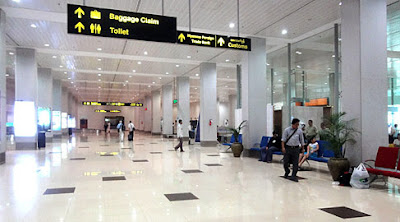 Yangon airport arrival hall with immigration