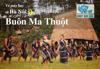 Vé máy bay Hà Nội đi Buôn Ma Thuột