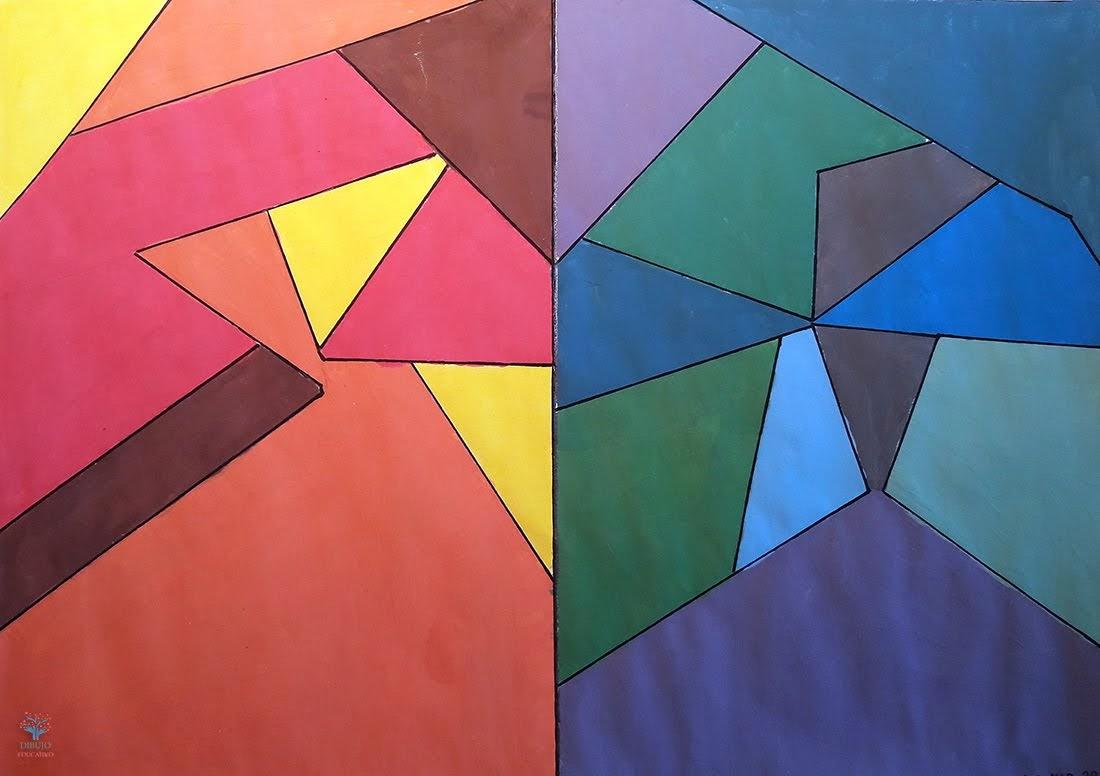 Dibujo Educativo: Armonía De Colores Cálidos Y Fríos (CE