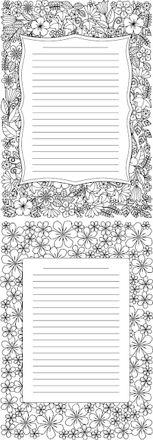 COLORING JOURNAL PAGES FREE