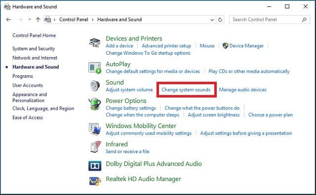 Cara mematikan notifikasi suara pada Windows 2