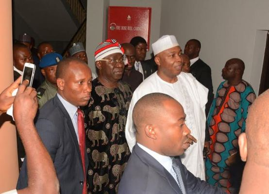 Abuja has granted bail to Senate President, Bukola Saraki, his deputy, Ike Ekweremadu and two other accused persons