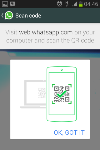 QR Code Scan WhatsApp Web
