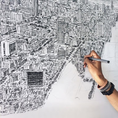 Pria Ini Sanggup Menggambar Kota Secara Detail Dari Ingatannya