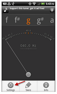 Cara mudah Tuning/Stem Gitar dengan Hp Android