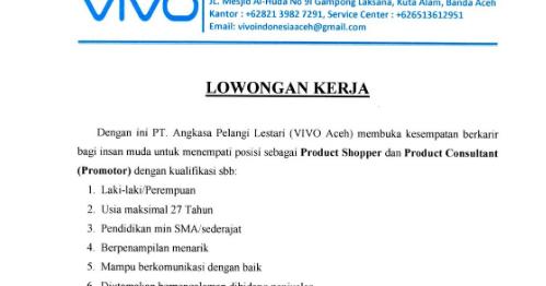 Index Php Lowongan Kerja Banda Aceh Ijazah Sma