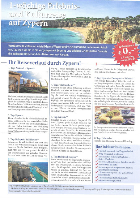 "Scan: Flyer ""Zypern"" FIT Reiseservice GmbH / April 2019"