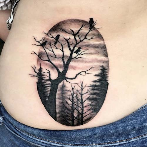 ağaç dövmeleri tumblr tree tattoos