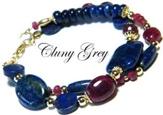 lapis and ruby bracelet