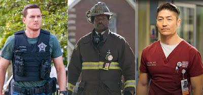 Heróis de Chicago: Jay (Jesse Lee Soffer, à esq.), Boden (Eamonn Walker, ao centro) e Ethan (Brian Tee, à dir.)