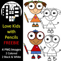Free Love Kids with a Pencil