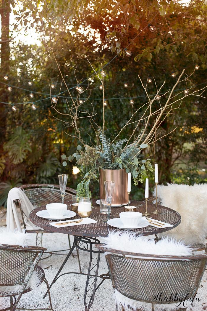 winter tablescape entertaining wedding inspiration