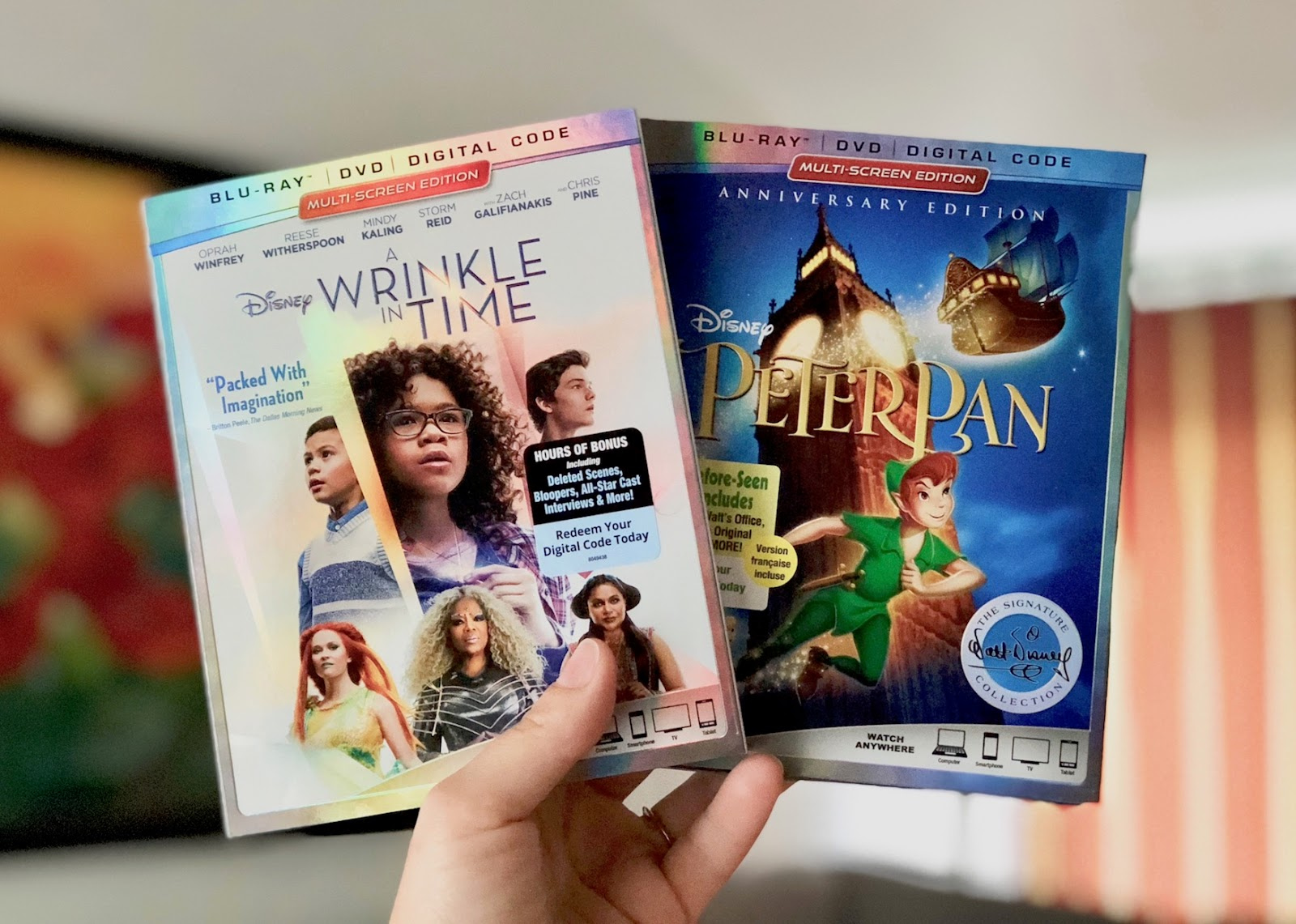 Win Blu-ray Copies of Disney's A Wrinkle in Time and Peter Pan