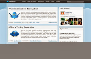 Twitter Like Blogger Template