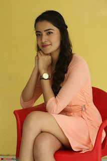 Rukshar Mir in a Peachy Deep Neck Short Dress 079.JPG