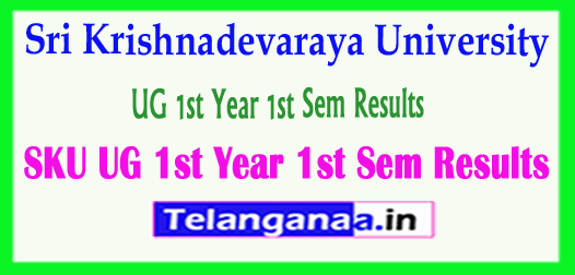 SKU Degree Sri Krishnadevaraya University UG 1st Year 1st Sem Results 2018