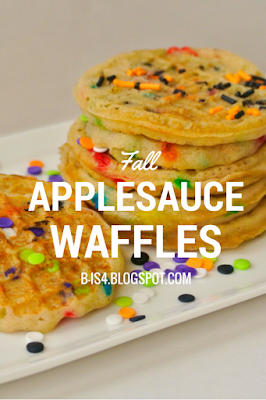 Fall Applesauce Waffles