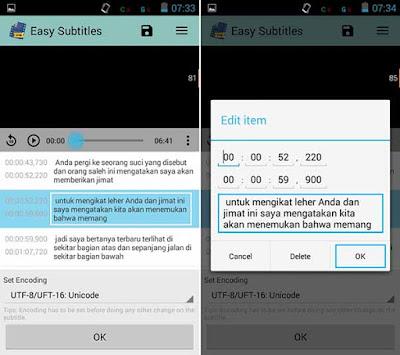 Cara Edit Subtitle di Android