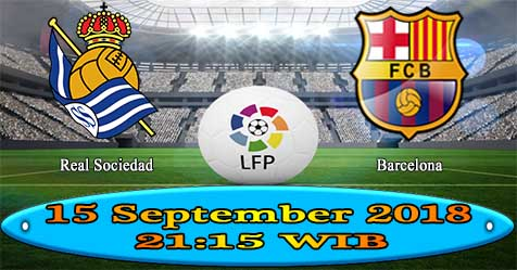Prediksi Bola855 Real Sociedad vs Barcelona 15 September 2018