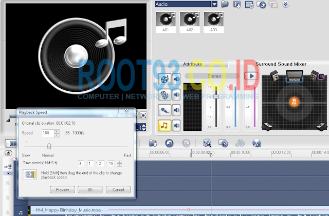 editing audio dengan ulead 8