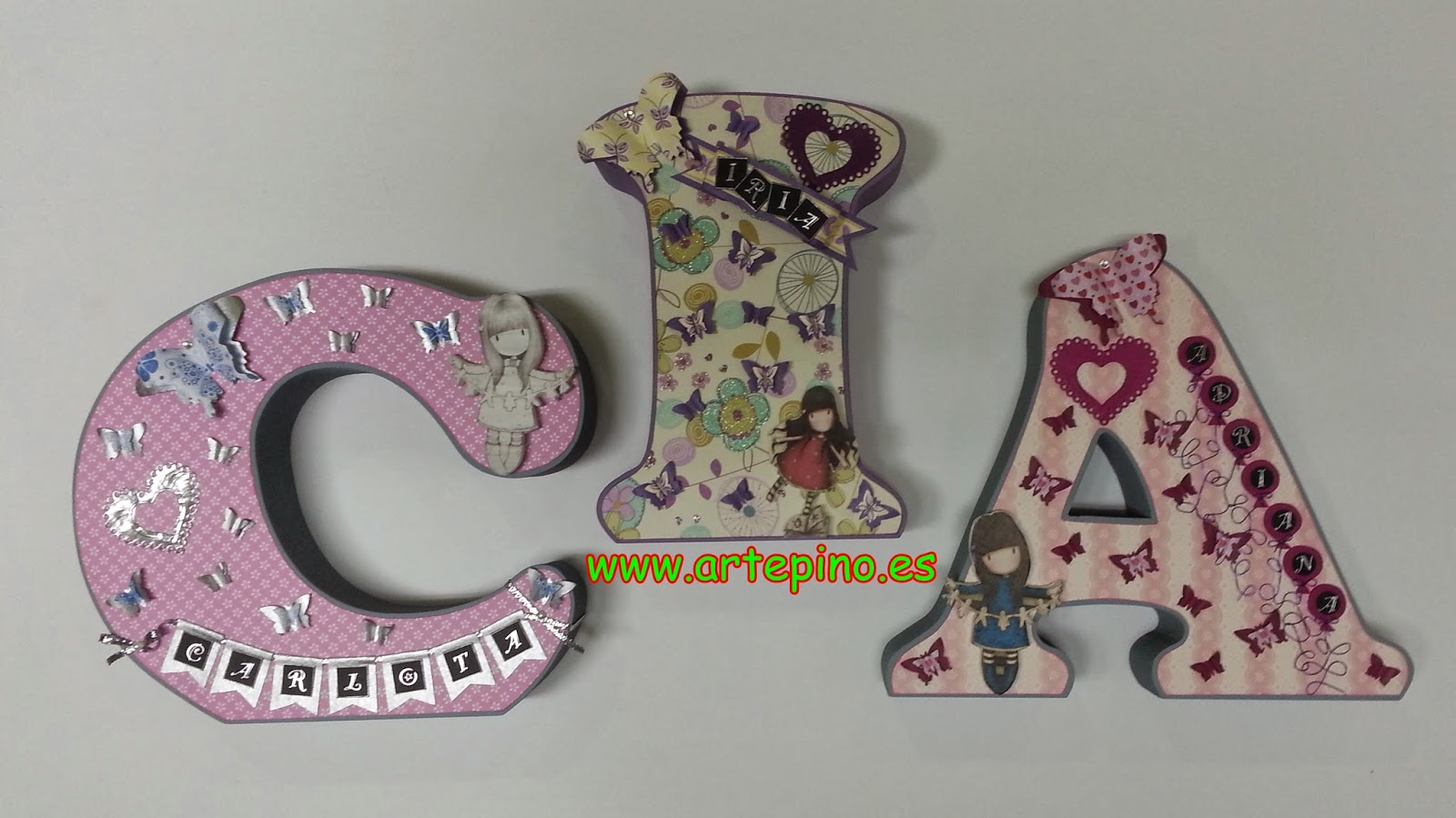 Letras Decoradas Scrap Artepino Letras Scrap