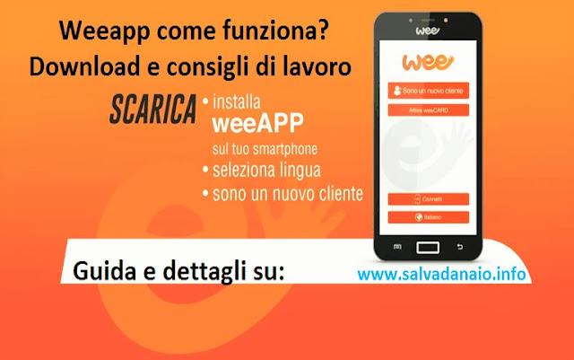Weeapp come funziona Download e consigli di lavoro