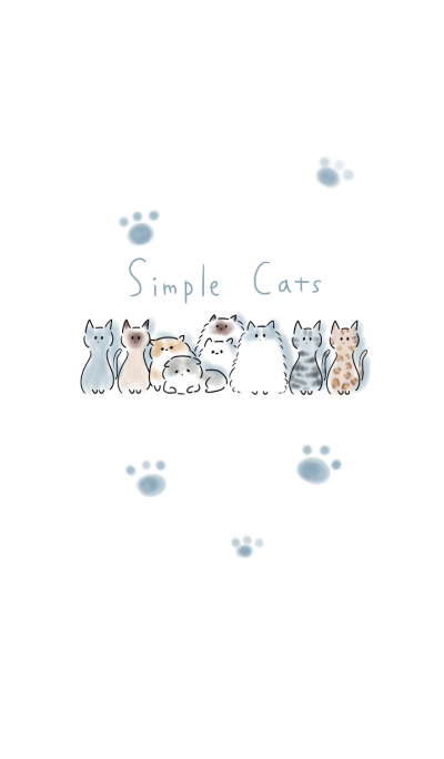 Simple A variety of cats.